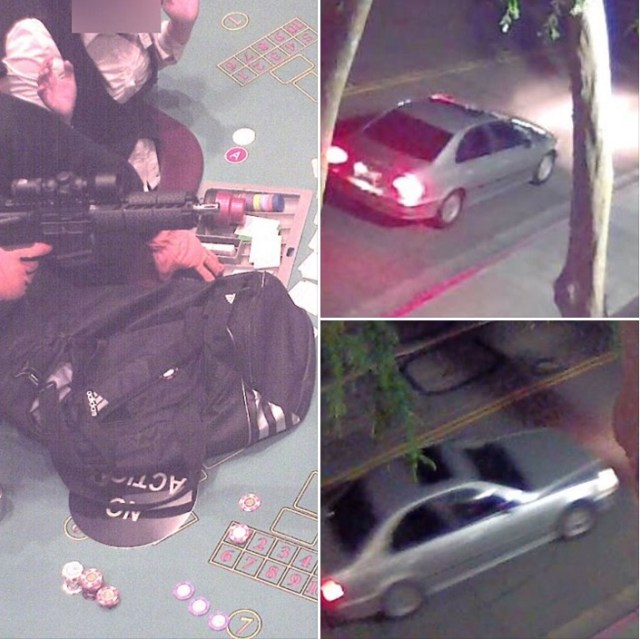 View of weapon, getaway car used in this morning's casino robbery. Photos: Contra Costa County Sheriff