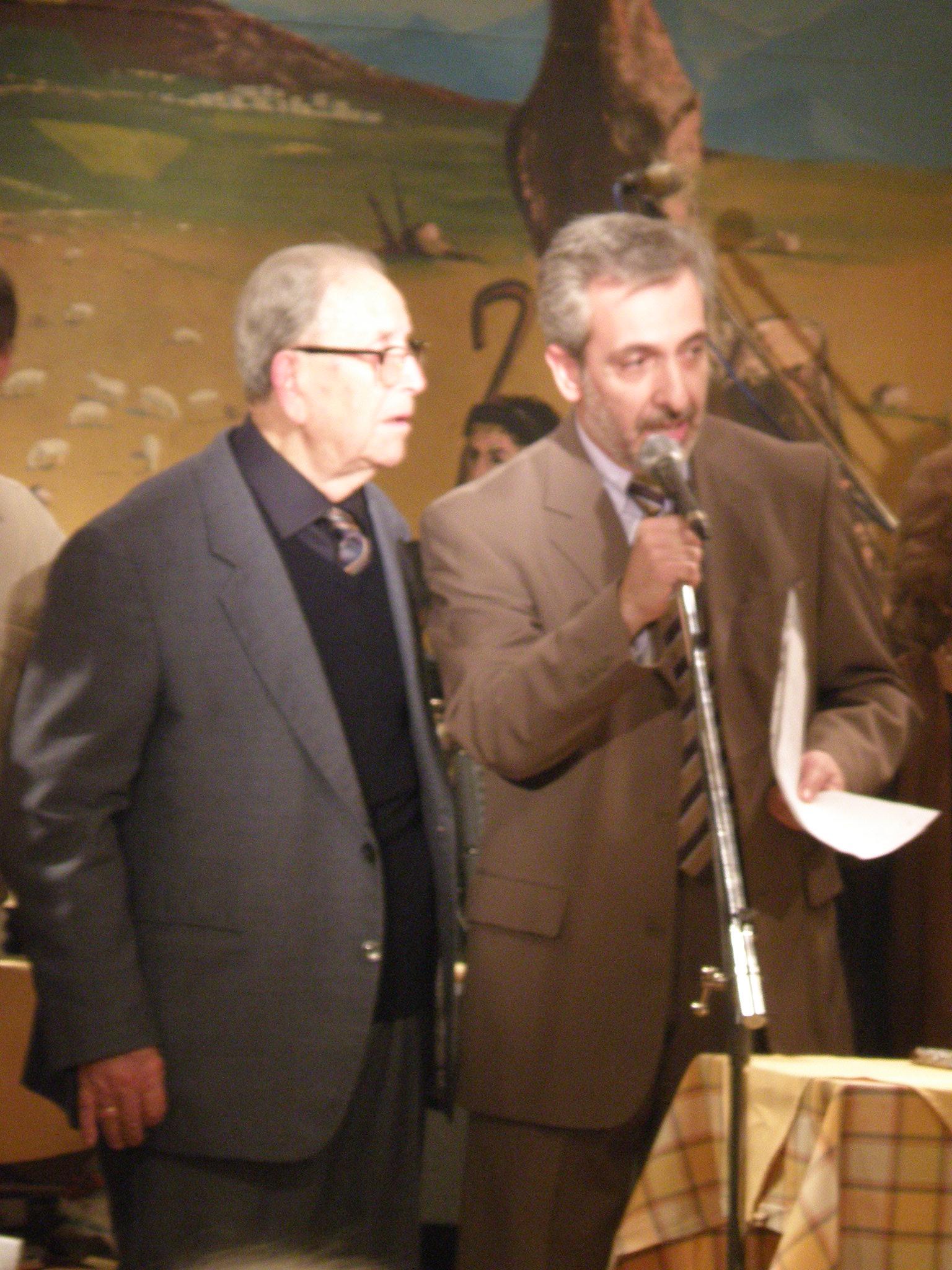 Ο Πρόεδρος Δ. ΜΠΙΤΣΑΚΑΚΗΣ και ο Α Βασιλάκης