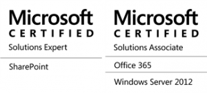 MCSE SharePoint and MCSA Office 365 and Windows Server 2012