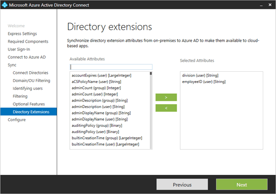 Updated: Extension attributes in Azure AD – Work Together