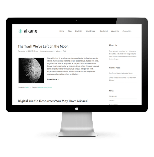 Alkane - Free WordPress Theme Mac