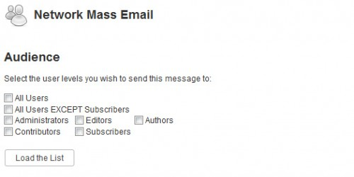 Network Mass Email