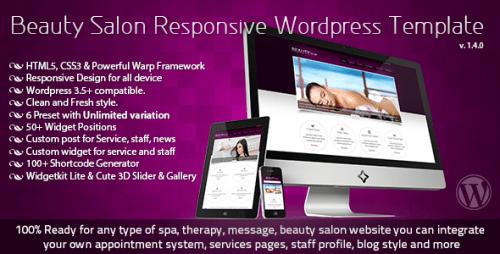 Beauty Salon Responsive WP Template