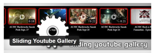 Sliding Youtube Gallery