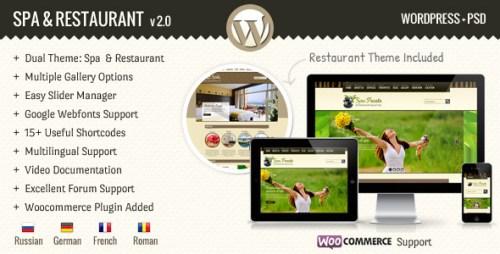 SPA Treats - Spa & Restaurant WordPress