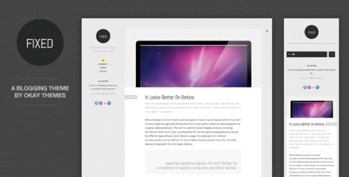 Fixed WordPress Theme