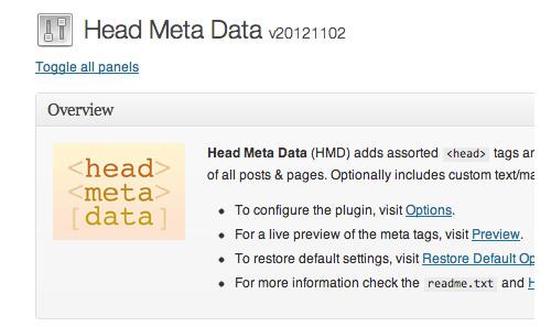 Head Meta Data