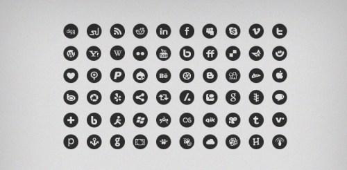 60 Social Media Mono Icons