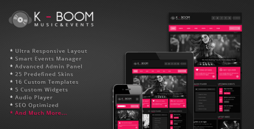 K-BOOM - Events & Music Responsive WP Theme
