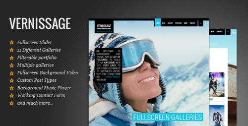 Vernissage - Responsive Photography Theme
