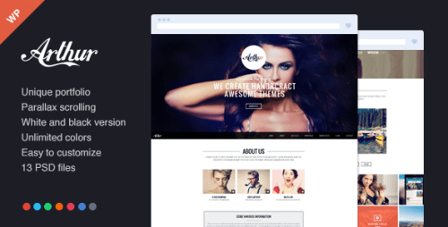 Arthur - Responsive, One Page and Parallax