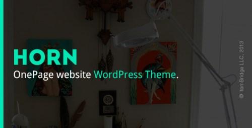 Horn - Responsive OnePage WordPress Theme