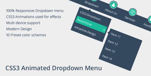 CSS3 Classic Dropdown Menu
