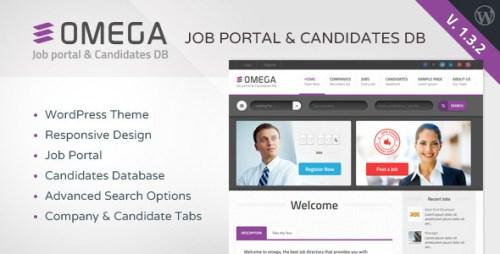 Omega - WordPress Job Portal & Candidate Database