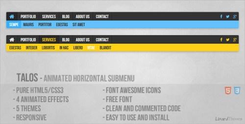 Talos - Animated Horizontal Submenu