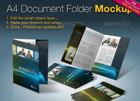 Folder Design Mockup