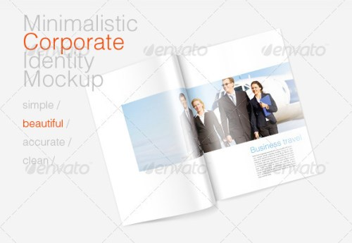 Minimal Corporate Identity and Magazine Mockup