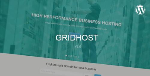 GridHost - Responsive Hosting WordPress Theme