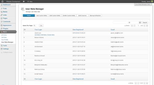 User Meta Manager
