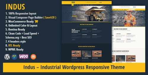 INDUS - Construction Business WordPress Theme