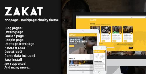 Zakat - Onepage, Multipage WordPress Charity Theme