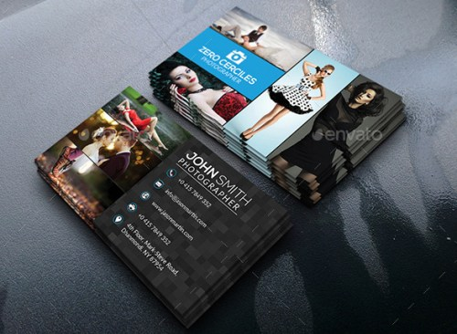 Fashion Photography Business Card Template