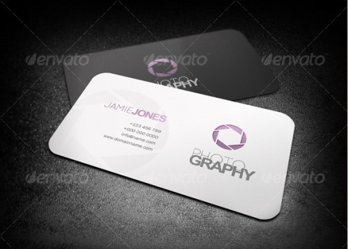 Simple Photography Business Card Template