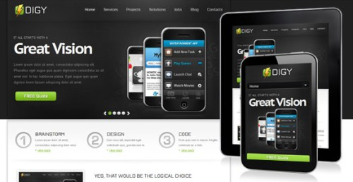 Digy - Responsive Landing Page Template