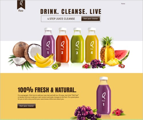 Drink Product Landing Page