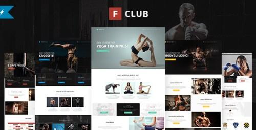 FightClub - Bodybuilding and Yoga WordPress Theme