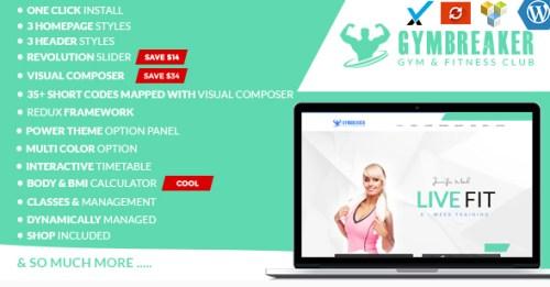 GymBreaker Fitness & Gymnasium WordPress Theme