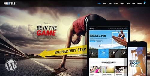 Whistle - Sports WordPress Theme