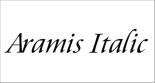 Aramis Italic Font