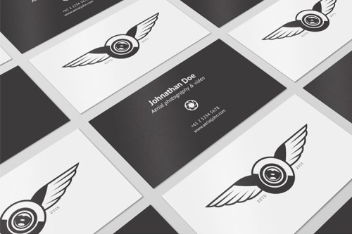 4 Business Cards Mockups