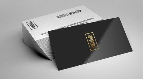 Foil Business Card Mockup