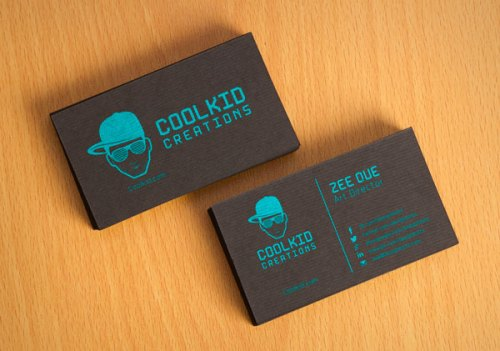 Free Black Textured Business Card Design Template