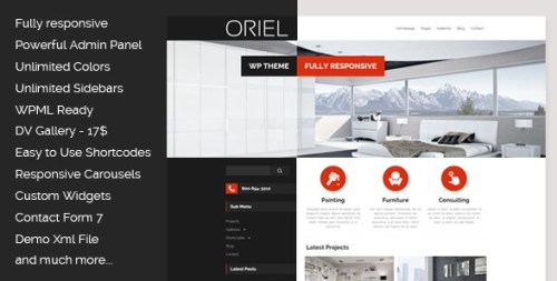 Oriel - Responsive Interior Design WordPress Theme