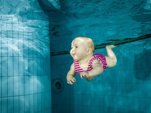 Cutest Baby Girl in Water