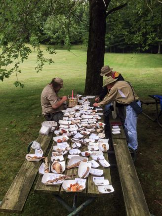 So many mushrooms we needed two identification tables. By Brian Johanson.