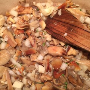 Add garlic, onions and thyme. By Richard Jacob