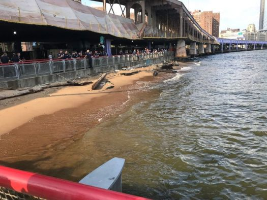 PHOTO: Tourists from Oklahoma discovered a baby lying unconscious and unresponsive near the Manhattan side of the Brooklyn Bridge.