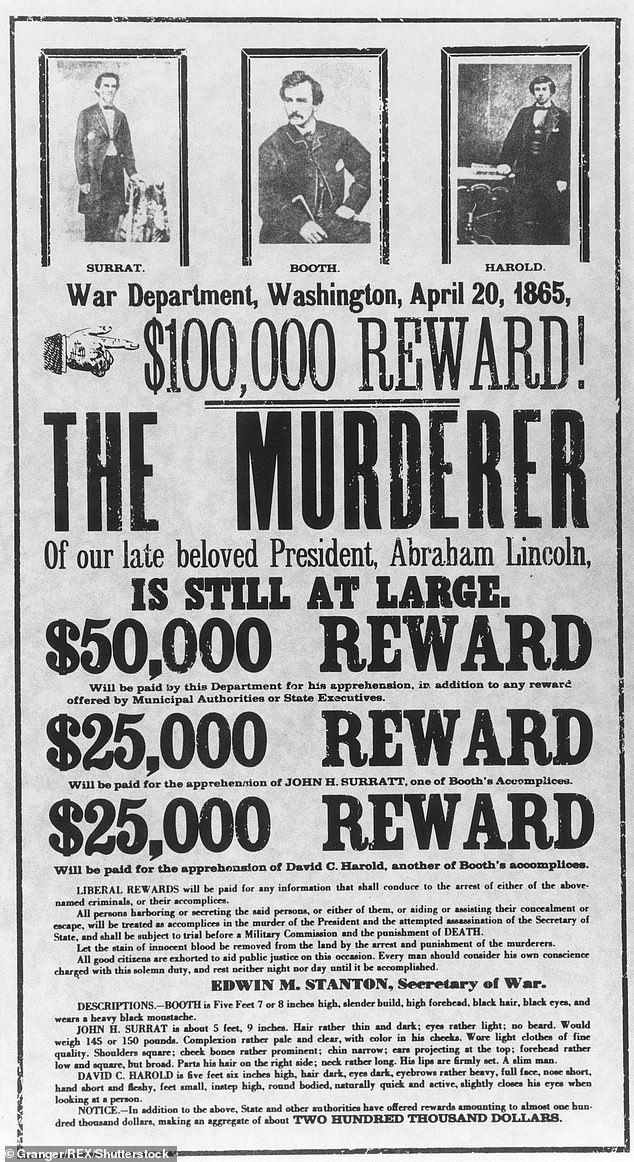 The man killed in the Virginia barn was passed off as Booth so that the soldiers who tracked him down could claim the sizable cash reward, it is now claimed