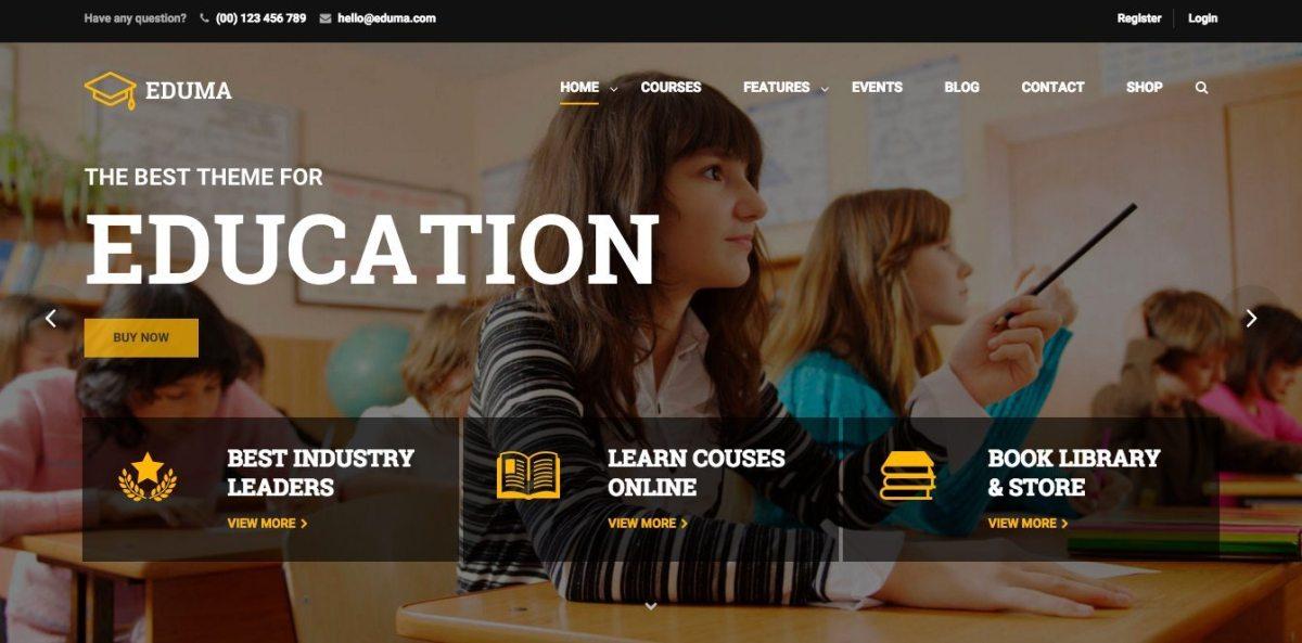 Best Premium WordPress Education Themes for Online Education