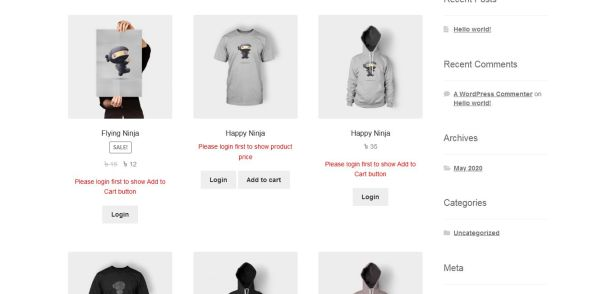 WooCommerce product list page