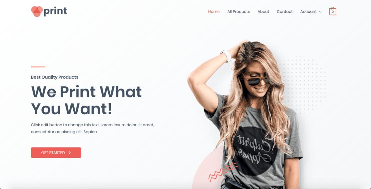 custom printing astra starter site