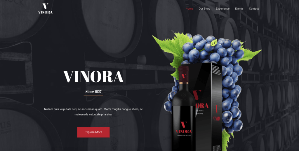 winery astra starter site