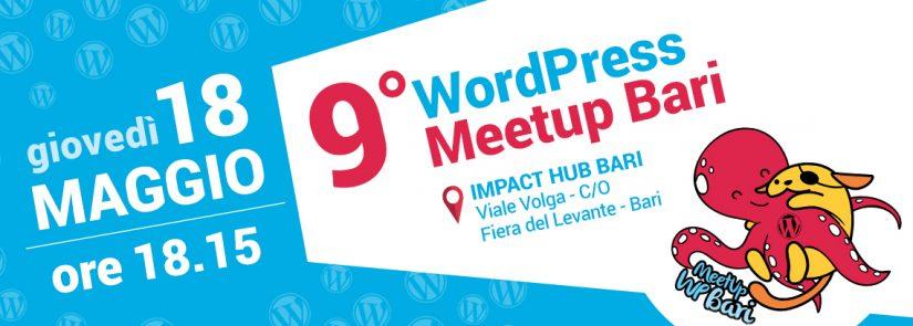 banner 9° WordPress meetup Bari