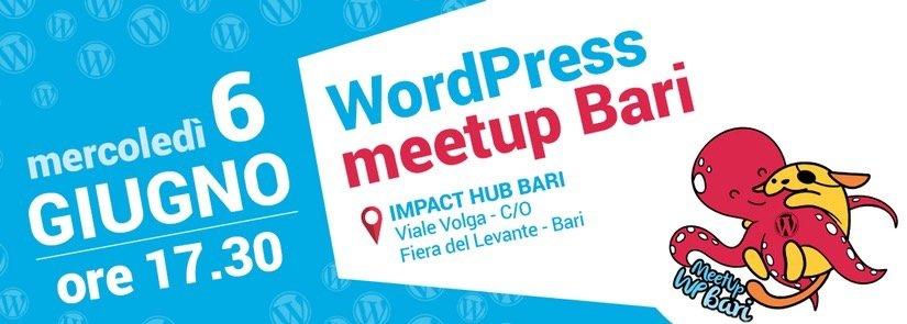 WordPress meetup Bari ~ Giugno 2018