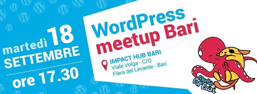 WordPress meetup Bari ~ Settembre 2018