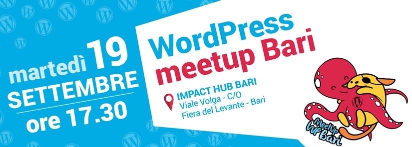 WordPress meetup Bari – Settembre 2017